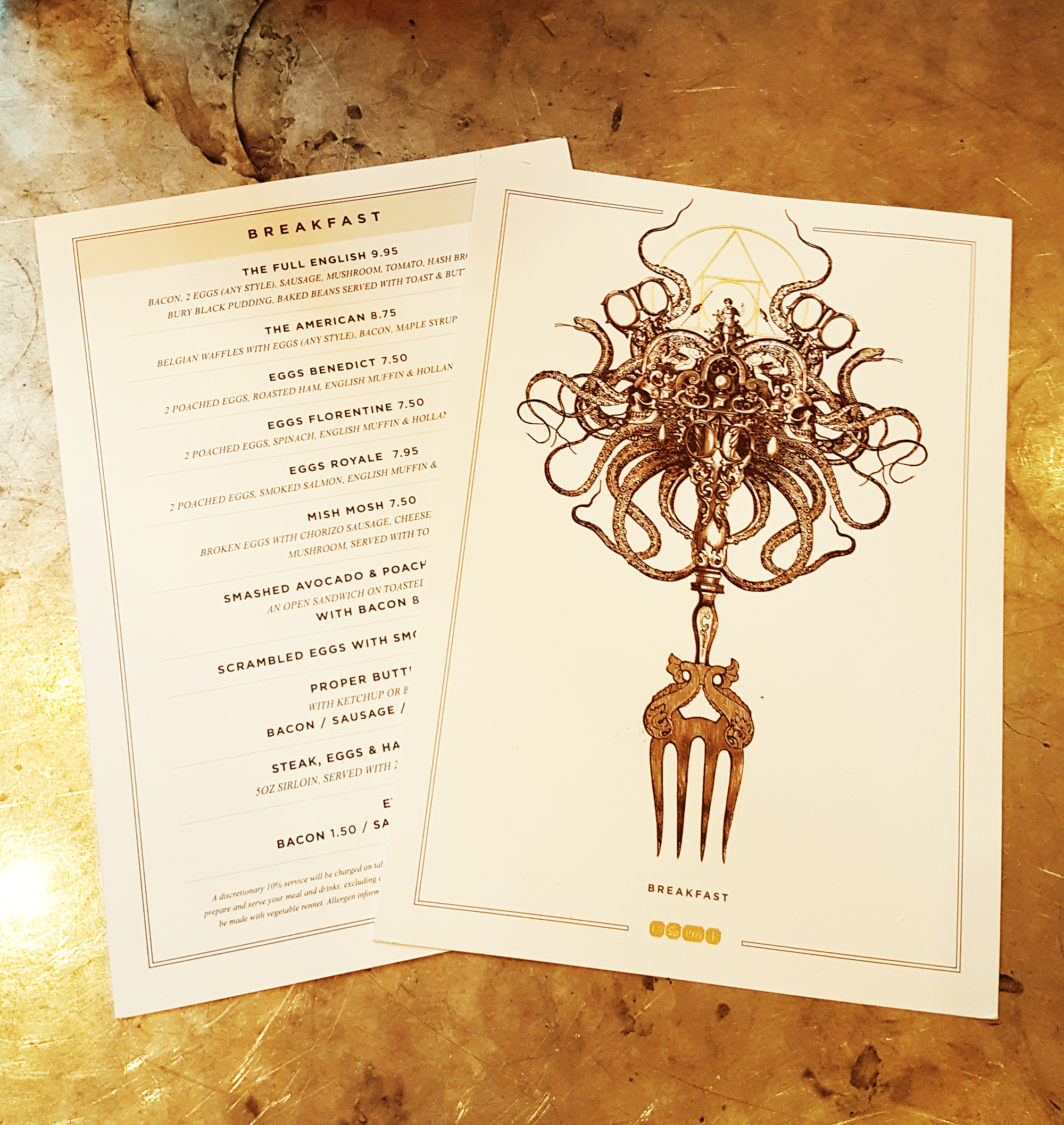 The Alchemist Menu