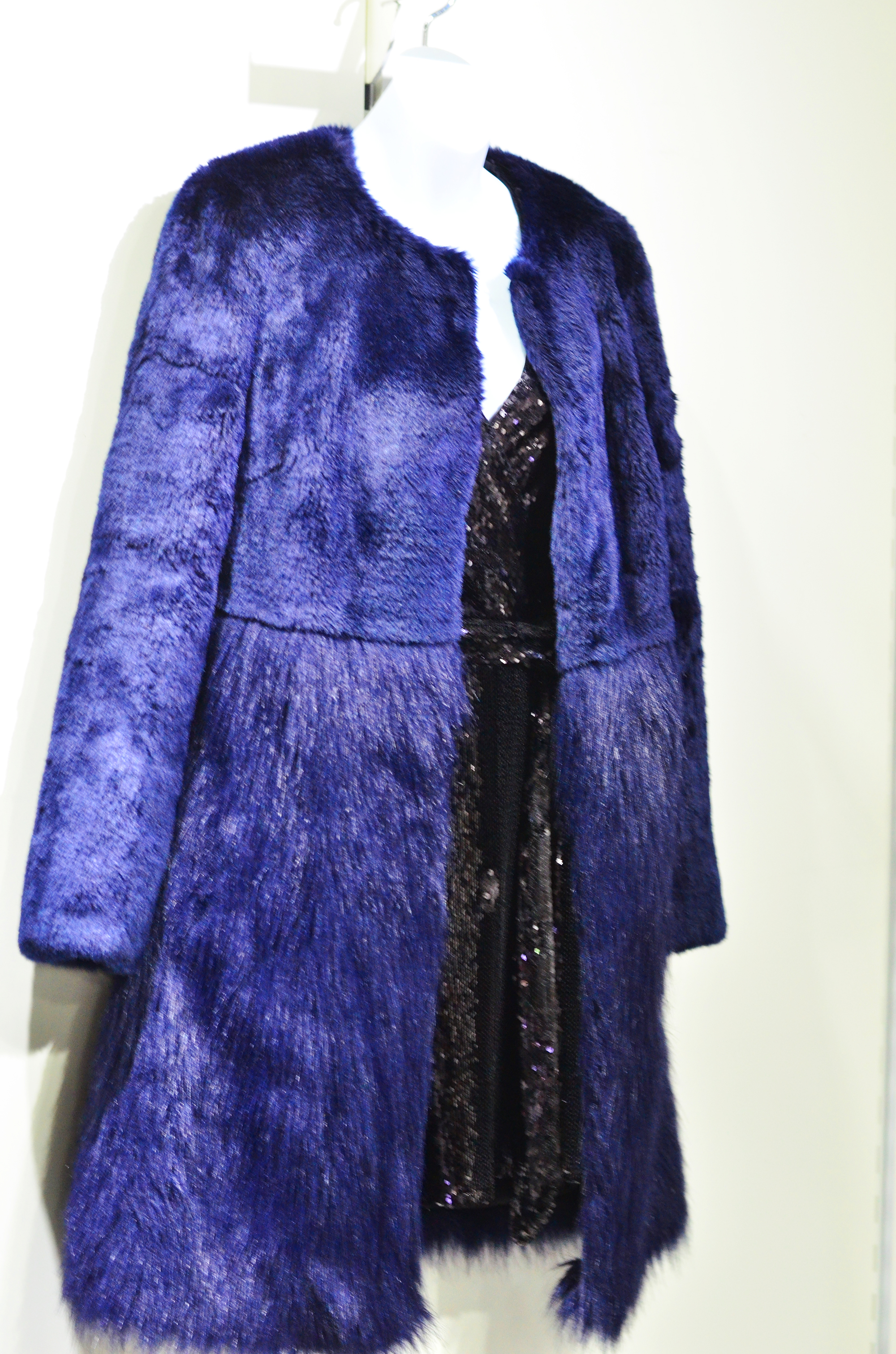 Blue Fur Coat Very.co.uk