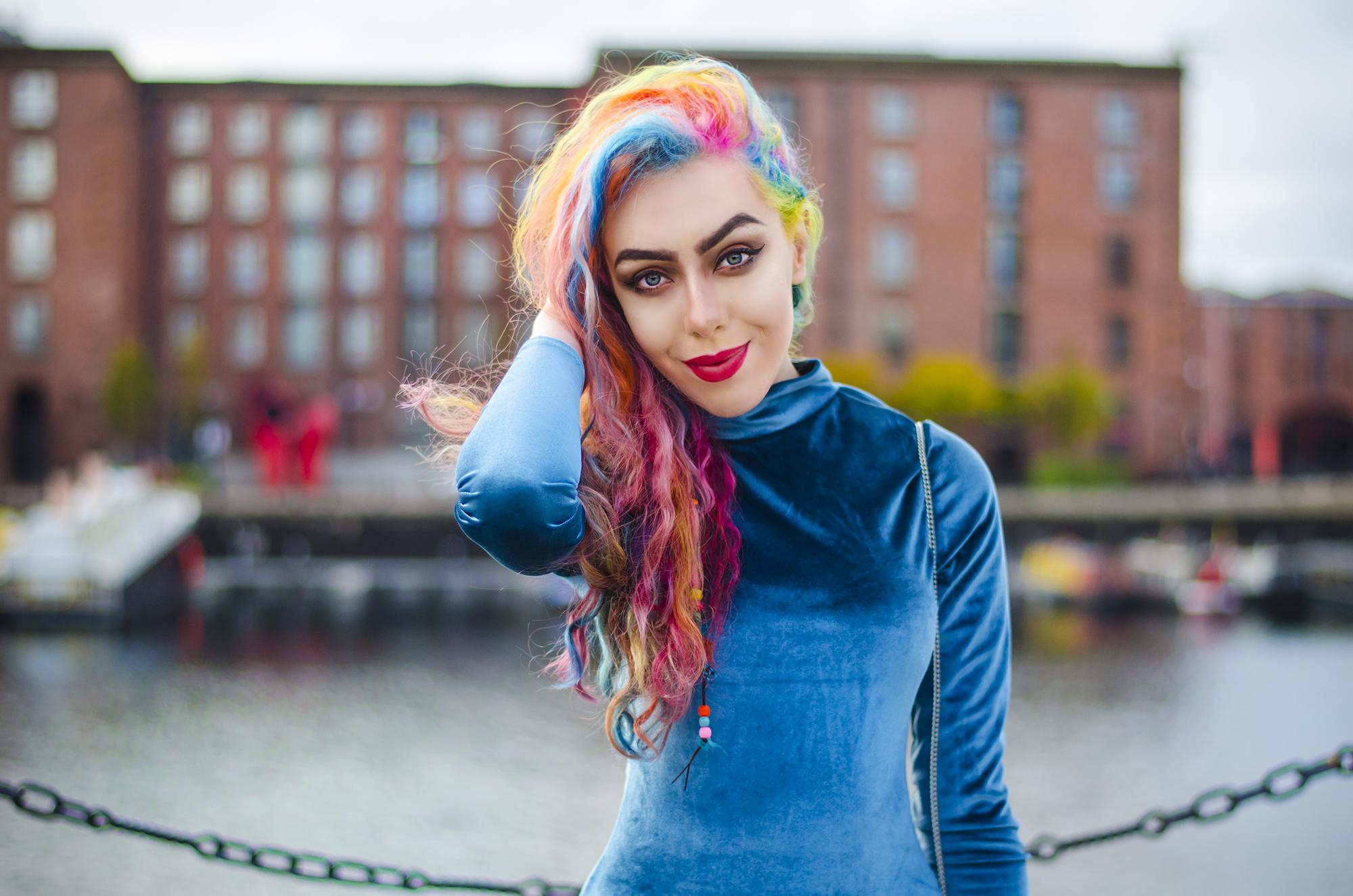 Stephi LaReine Fashion Blogger Blue Velvet Outfit