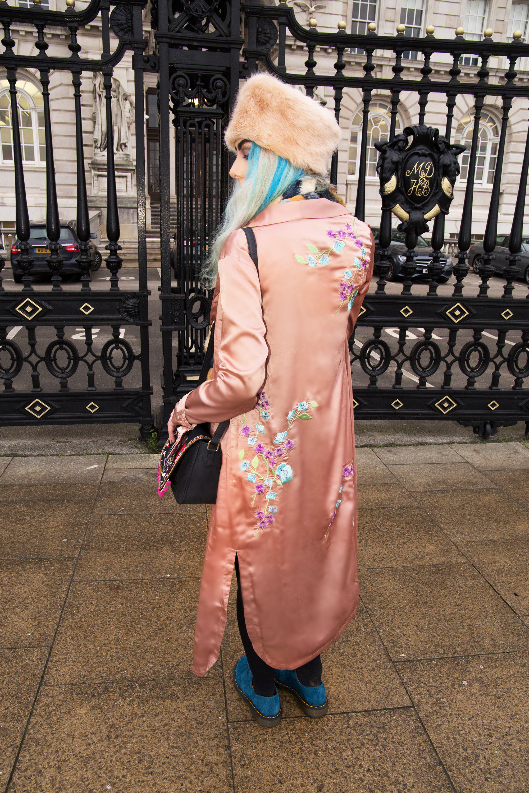 embroidered pink kimono duster jacket Missguided