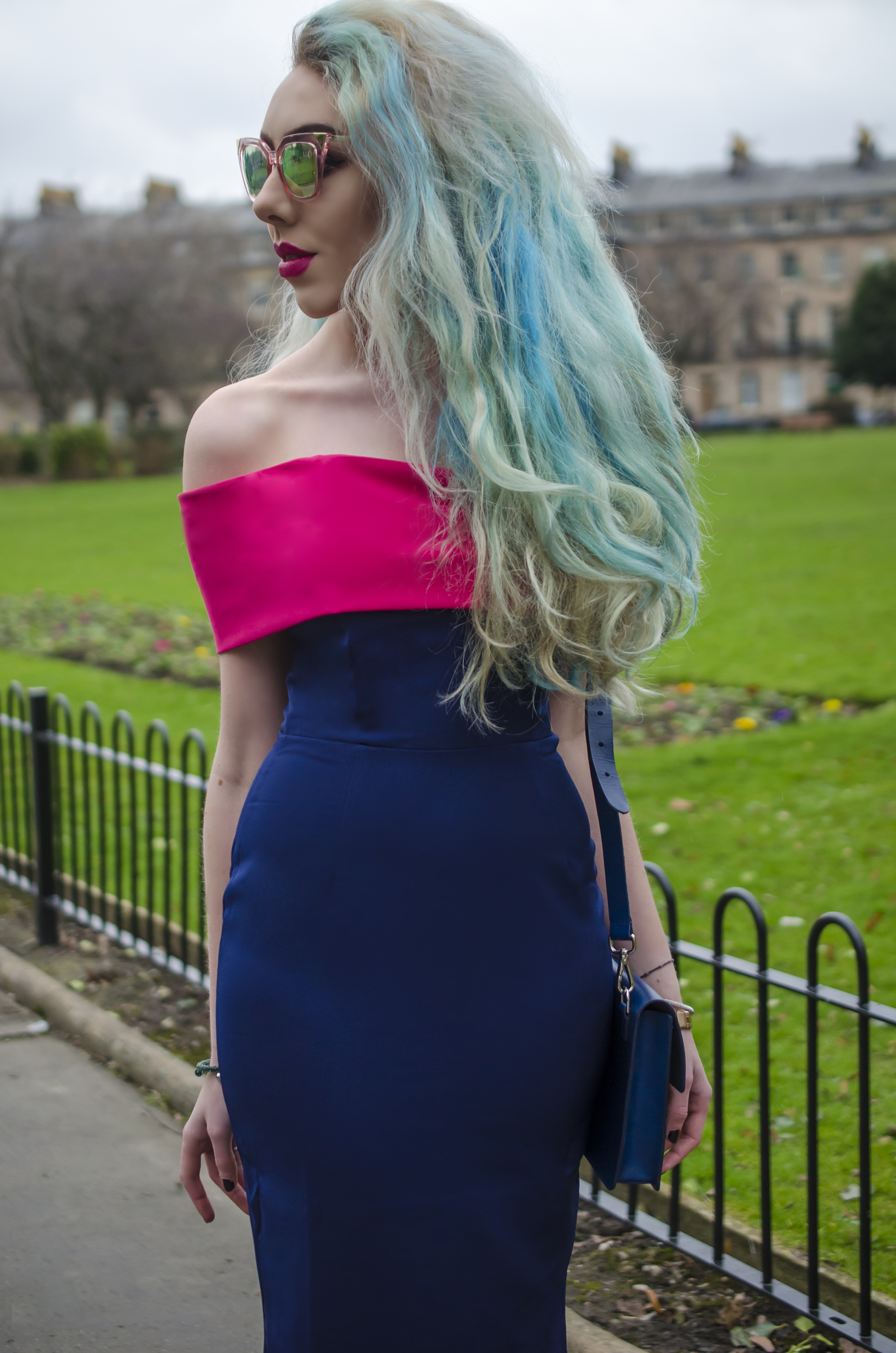 Stephi LaReine Rainbow Fashion Blog Blue Hair
