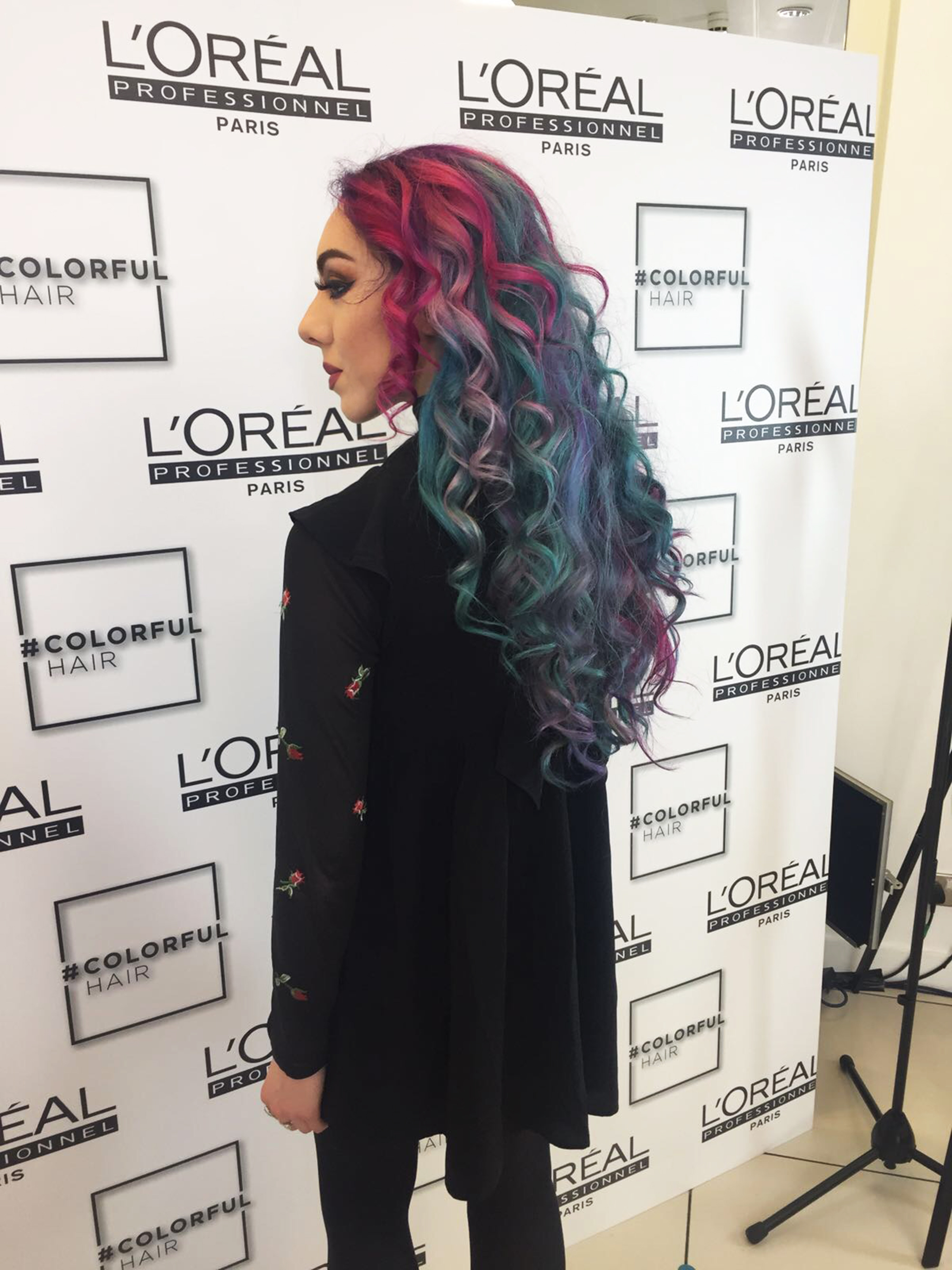 stephi lareine rainbow hair