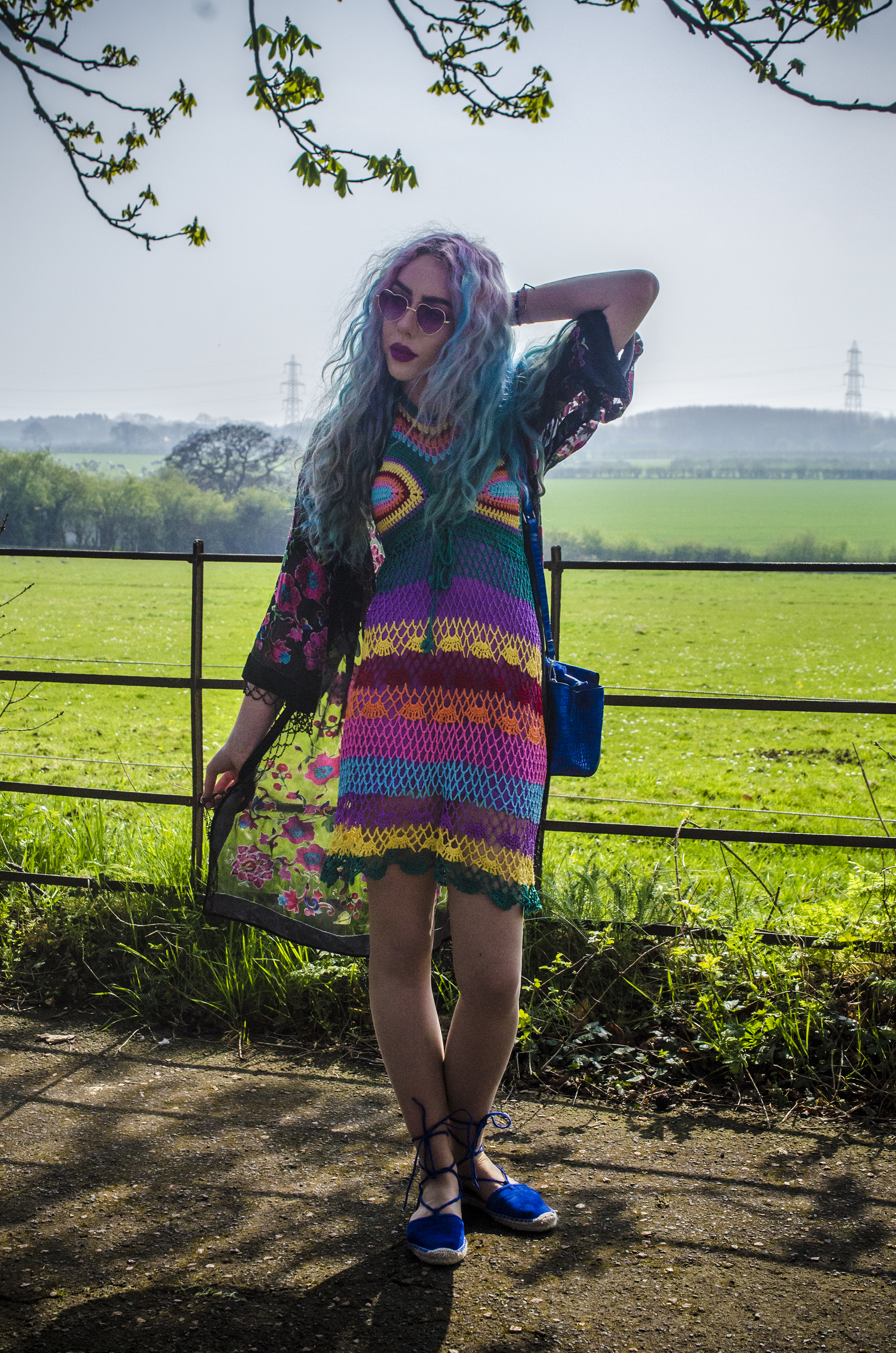 Stephi LaReine crochet rainbow dress by elsie and fred