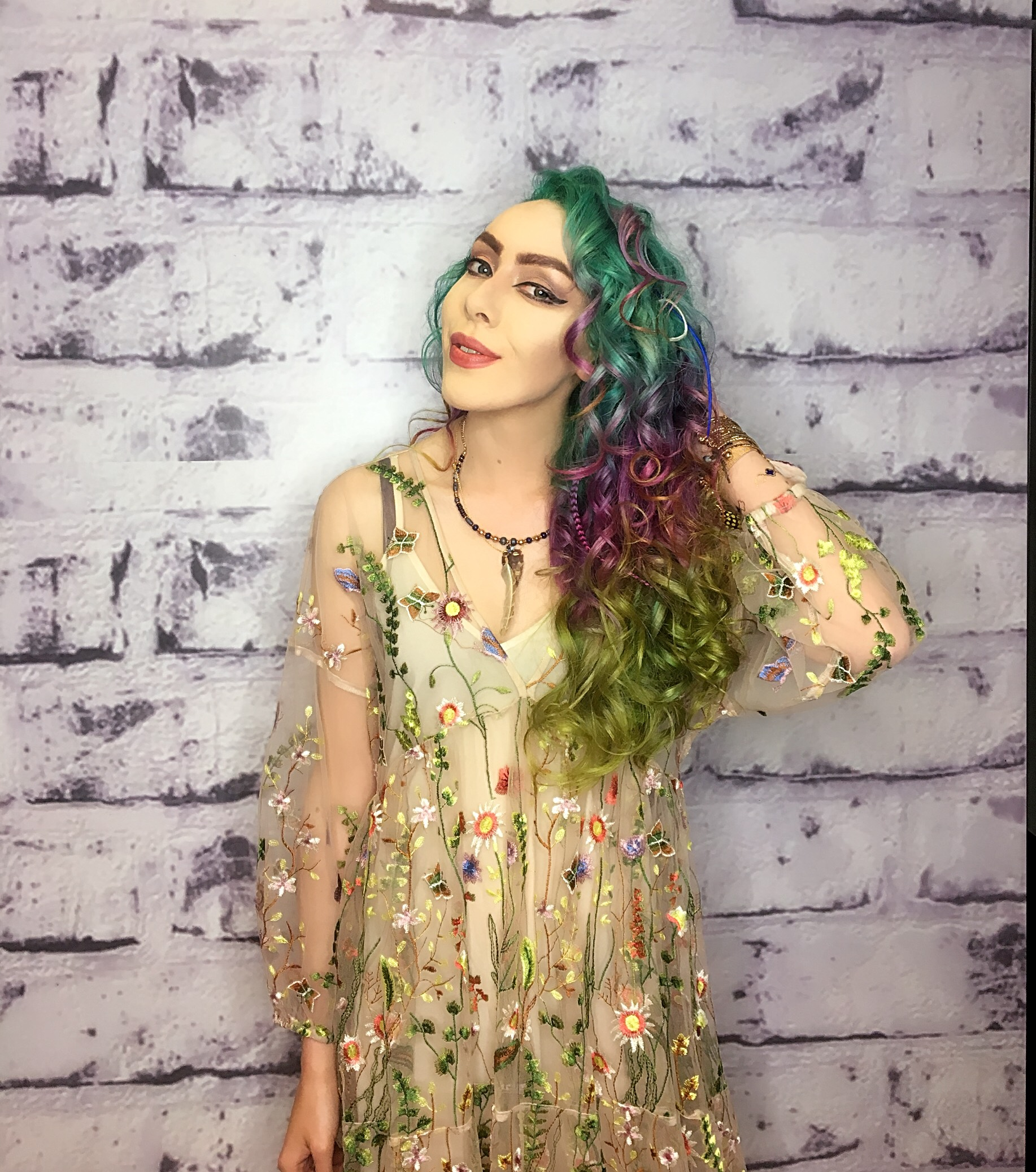 Stephi LaReine Sound City 2017 Rainbow Hair Festival Fashion