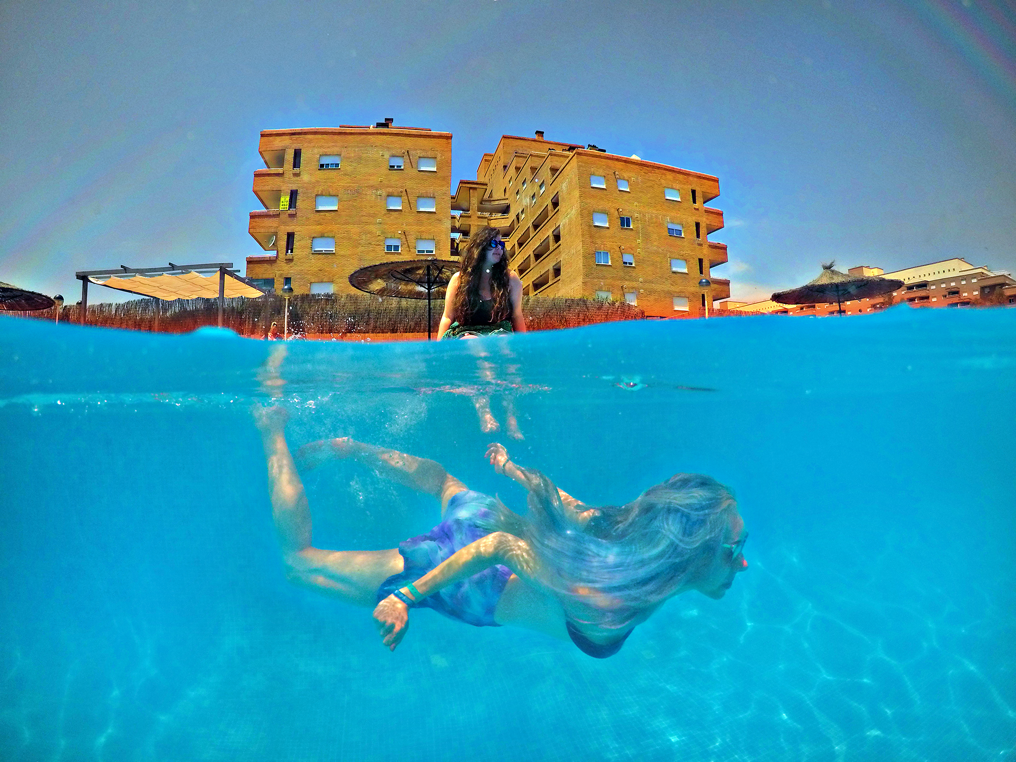 Stephi LaReine Dom Daly Benicassim Go Pro Underwater Photo