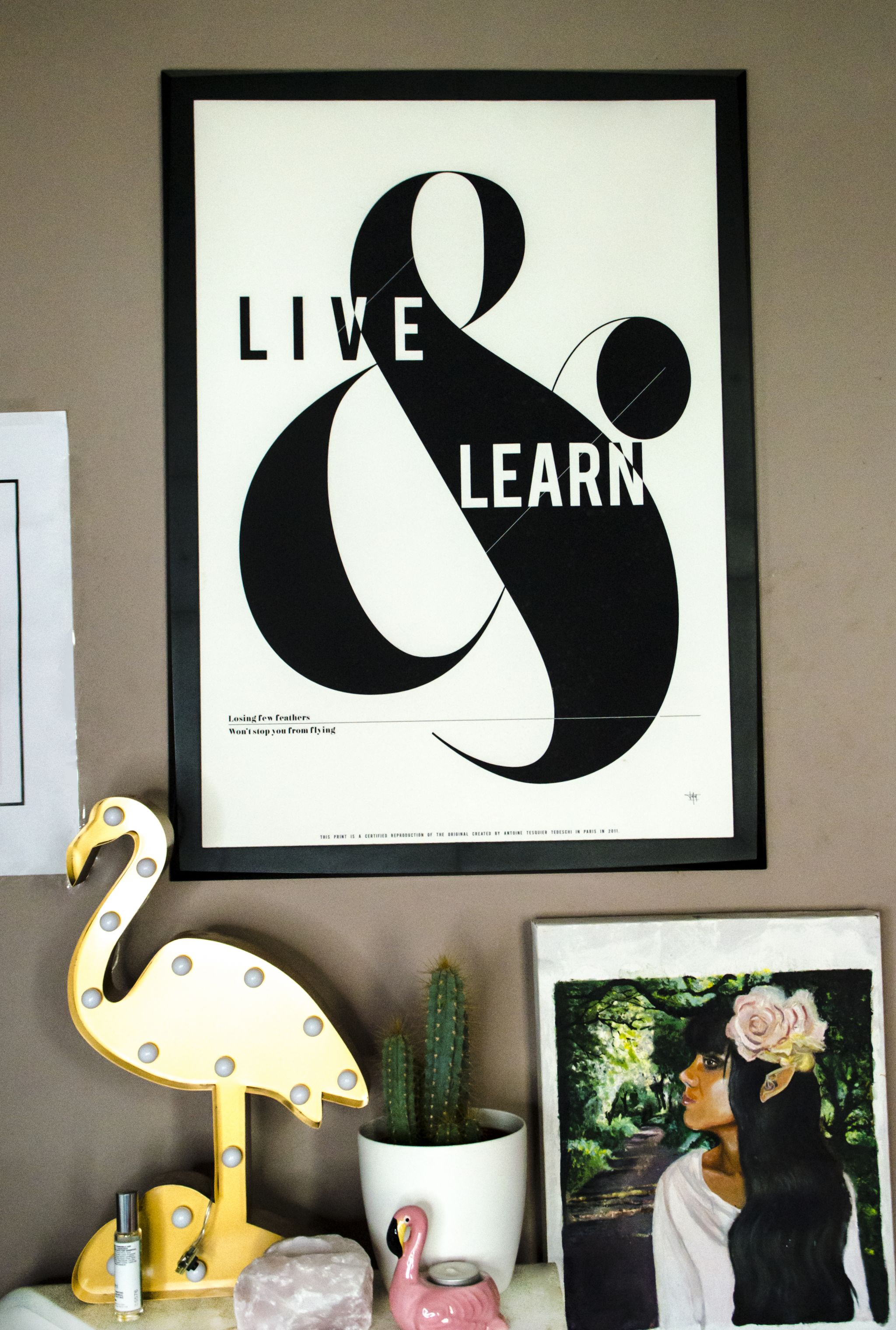 Live & Learn Art Print Quote