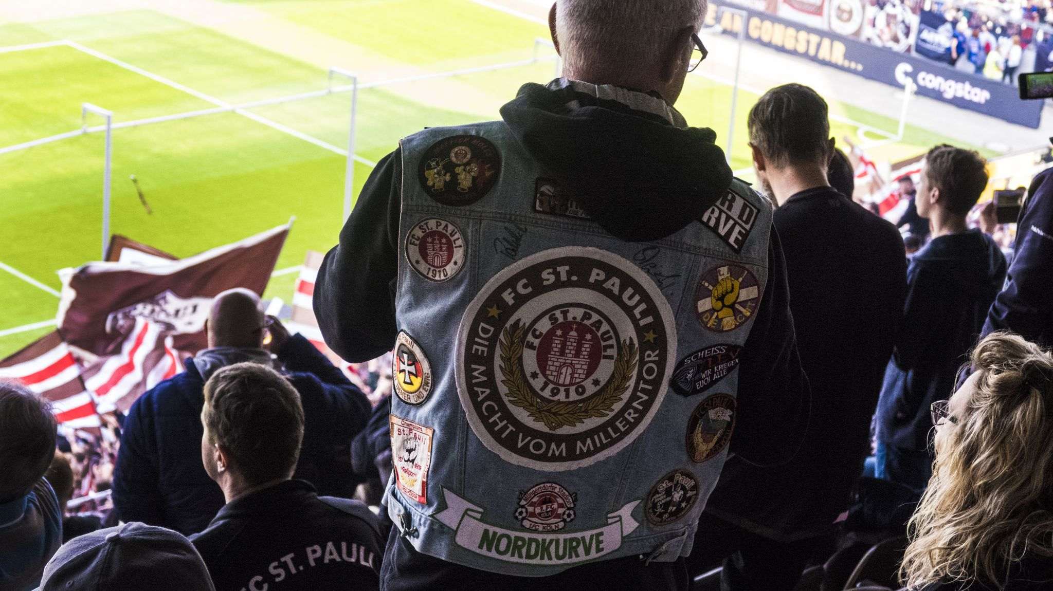 St Pauli Football Denim Jacket