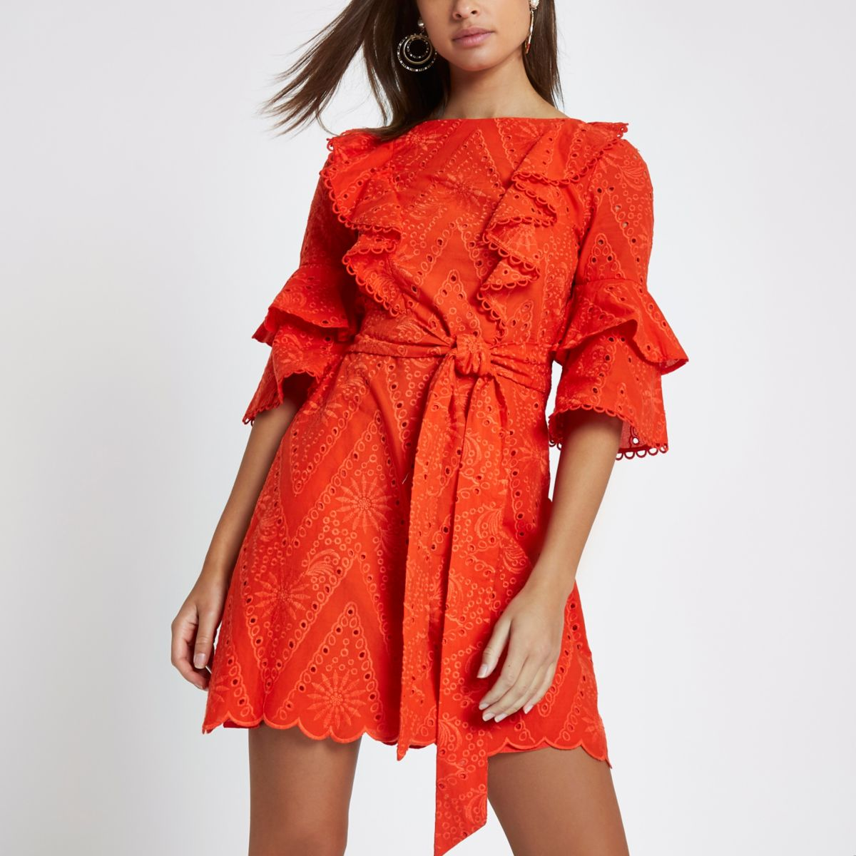 river island broderie dress