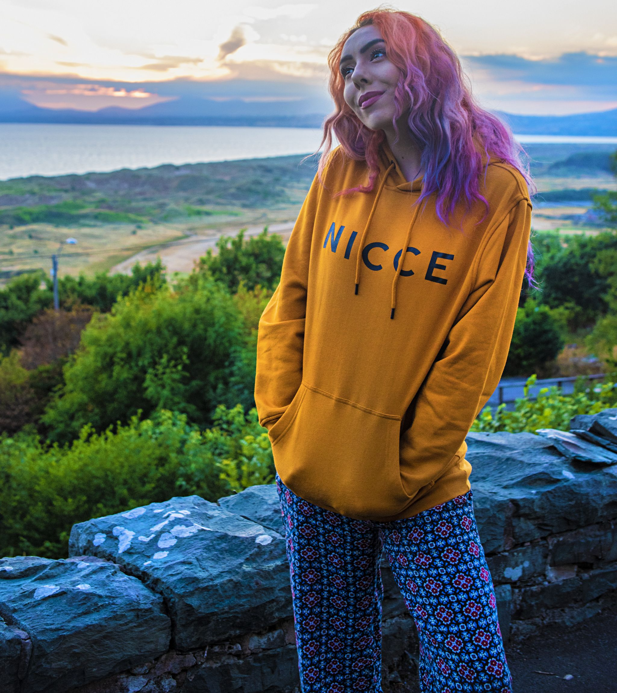 Nicce Yellow Hoodie Festival Essential - Stephi LaReine UK Music Fashion Blog