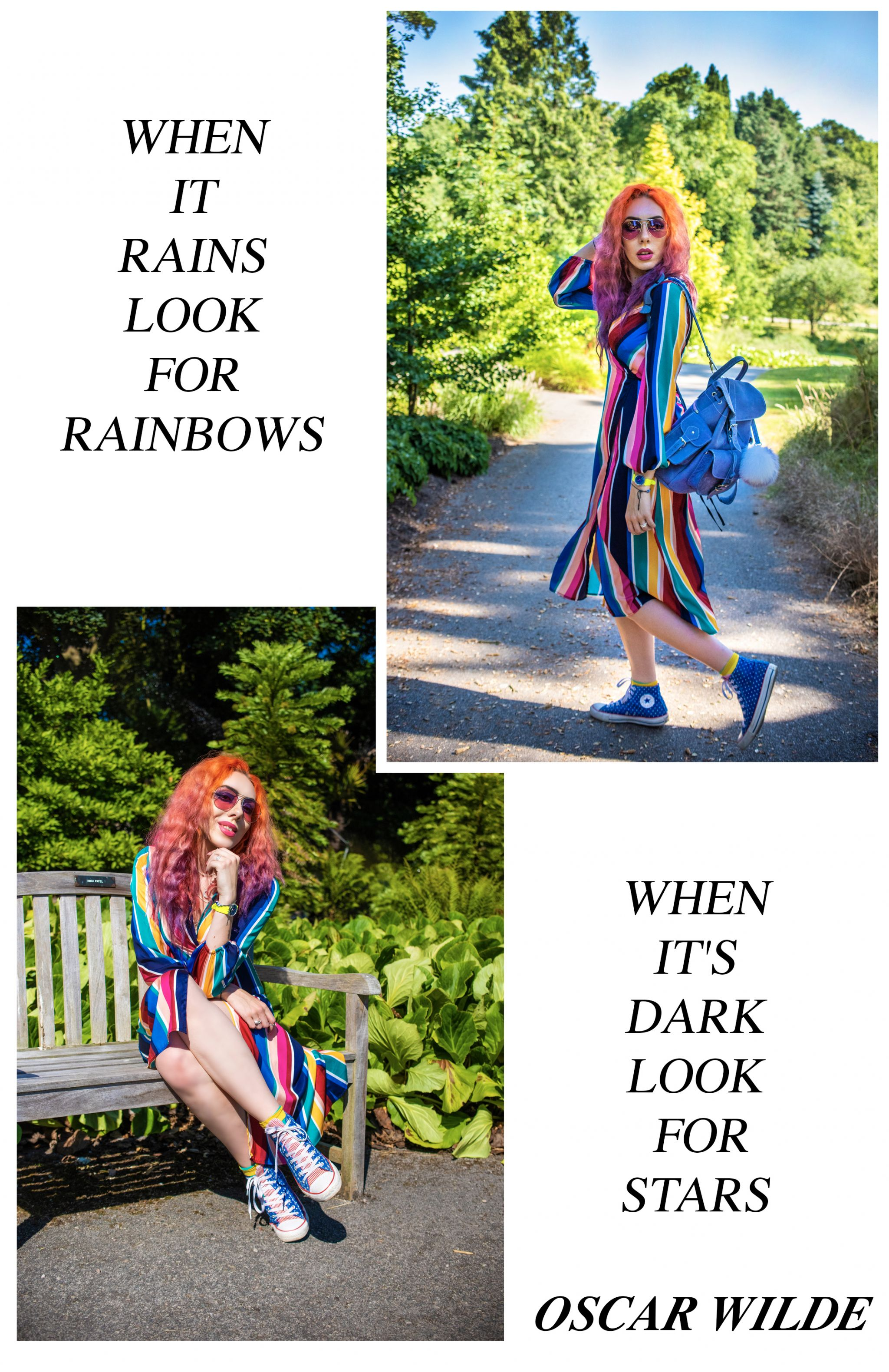 Primark Rainbow Dress - UK Fashion Blogger Stephi LaReine orange hair