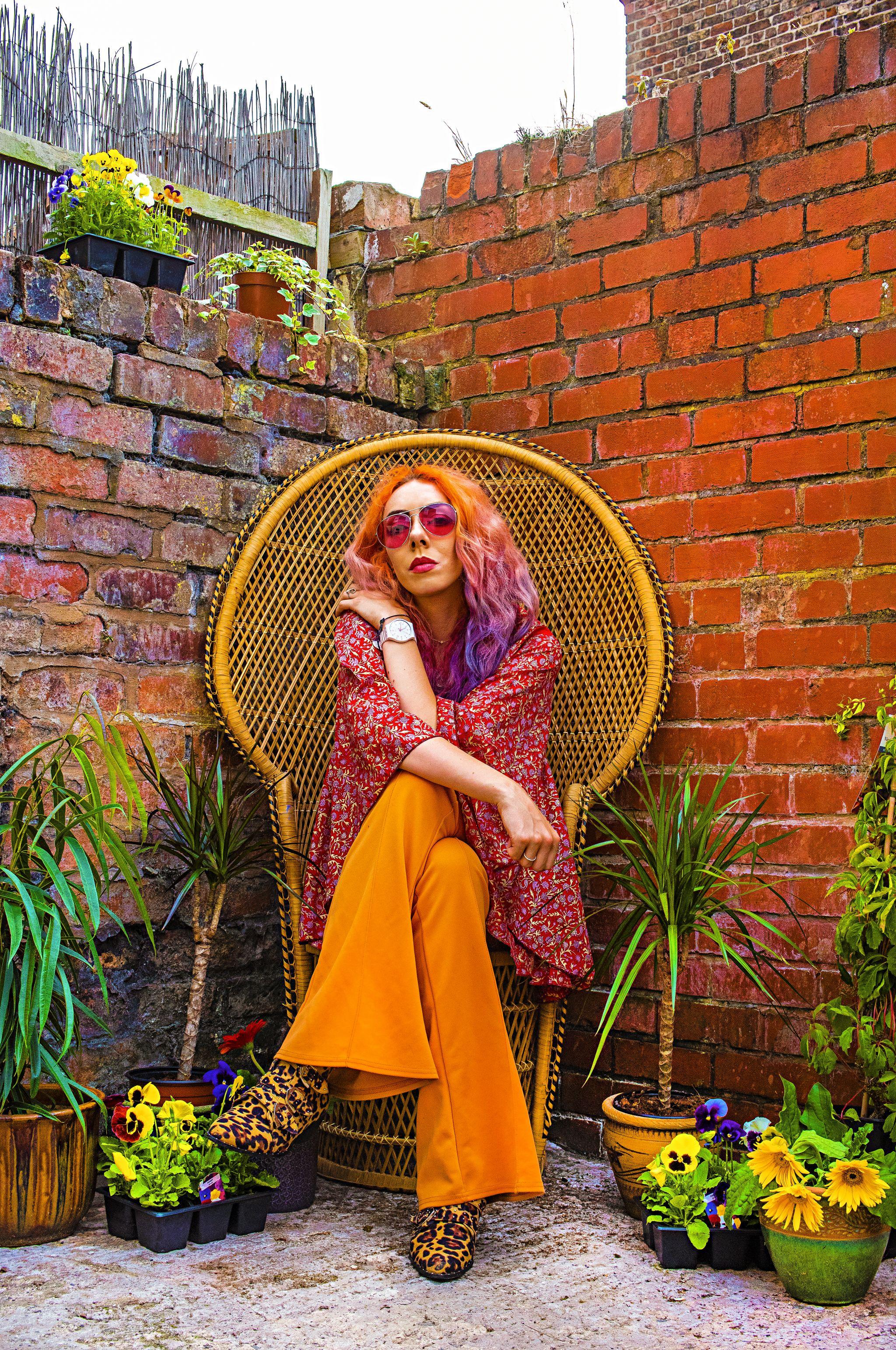 Stephi LaReine UK Boho Blogger Peacock Wicker Chair