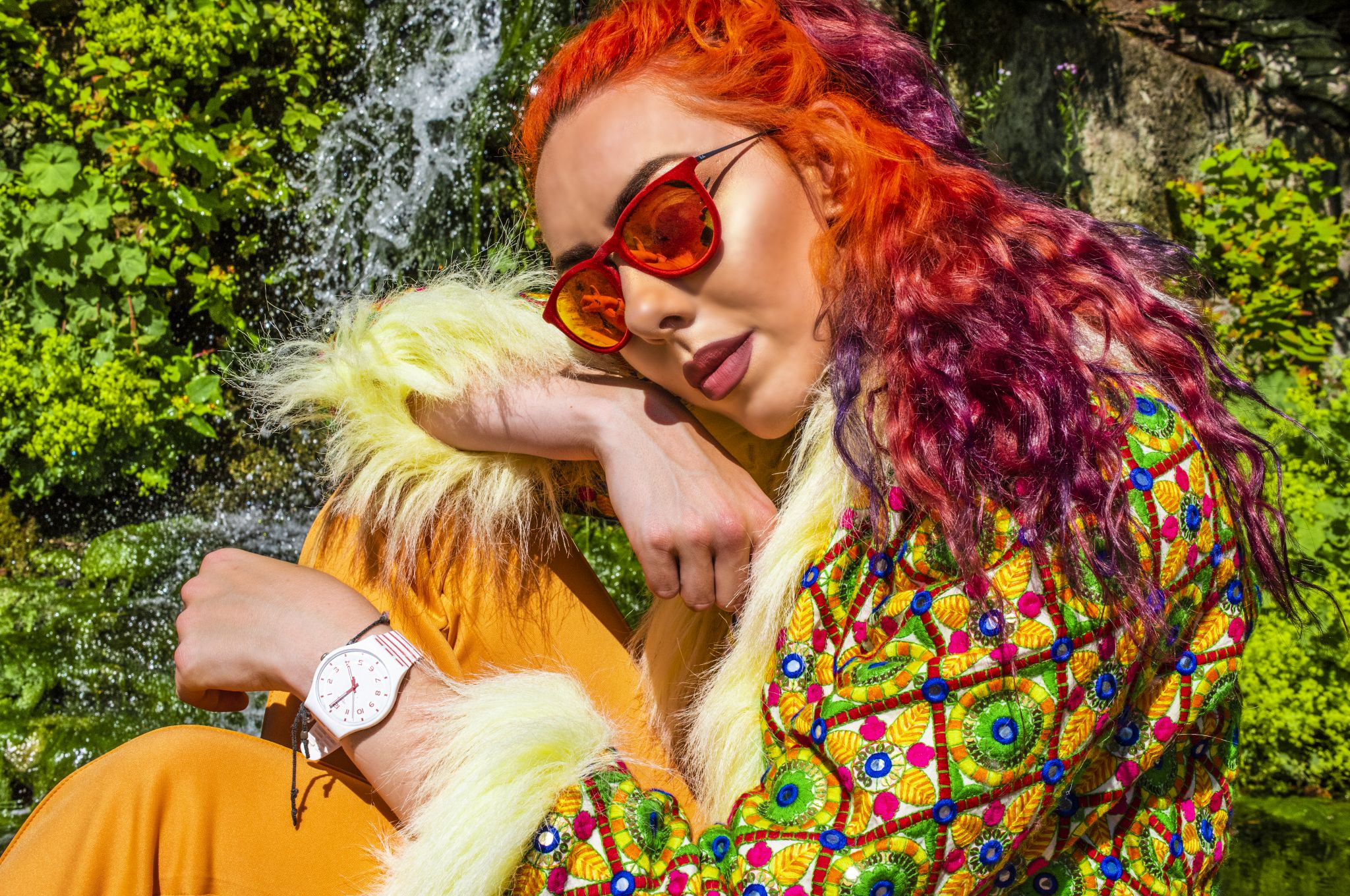 stephi lareine orange and purple hair