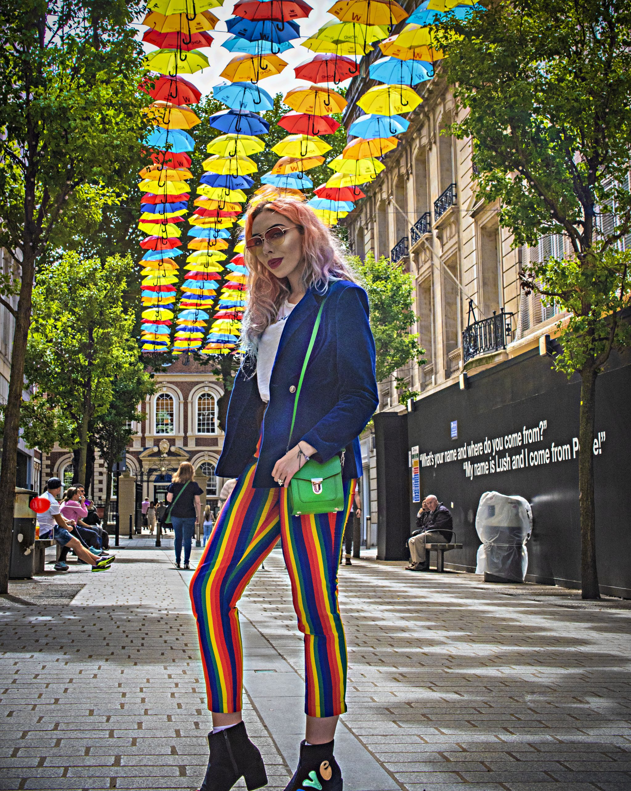 Stephi LaReine rainbow trousers fashion blogger