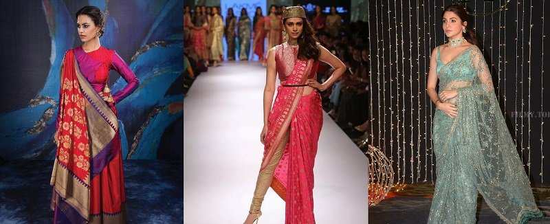 6 FASHIONABLE DRAPING STYLES FOR PARTY WEAR SAREES